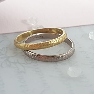 18 Carat Gold Textured Wedding Ring - engagement rings
