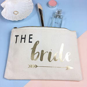 'The Bride' Bride Tribe Make Up Bag - make-up bags