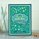 New Baby Boy Card 'Baby Sparkler'