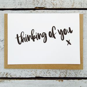 'Thinking Of You' Card - shop by category