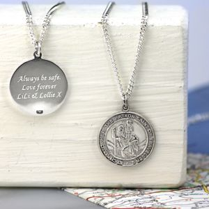 St Christopher Chunky Round Necklace - necklaces & pendants