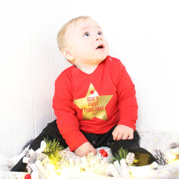 Baby's 'First Christmas' Star Top
