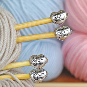 Mum Knitting Needles Two Pair Gift Set - knitting kits