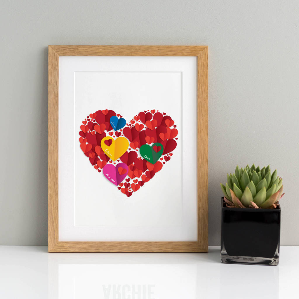 Family Heart Personalised Print