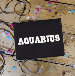 Aquarius Zodiac Pouch - gifts for teenagers