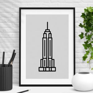 Empire State Building New York City Print