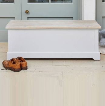Ridley Grey Hallway Storage Bench Box