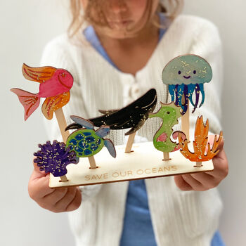 Personalised 'Save Our Oceans' Craft Kit
