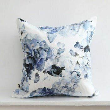Blue Hydrangea Cushion Cover