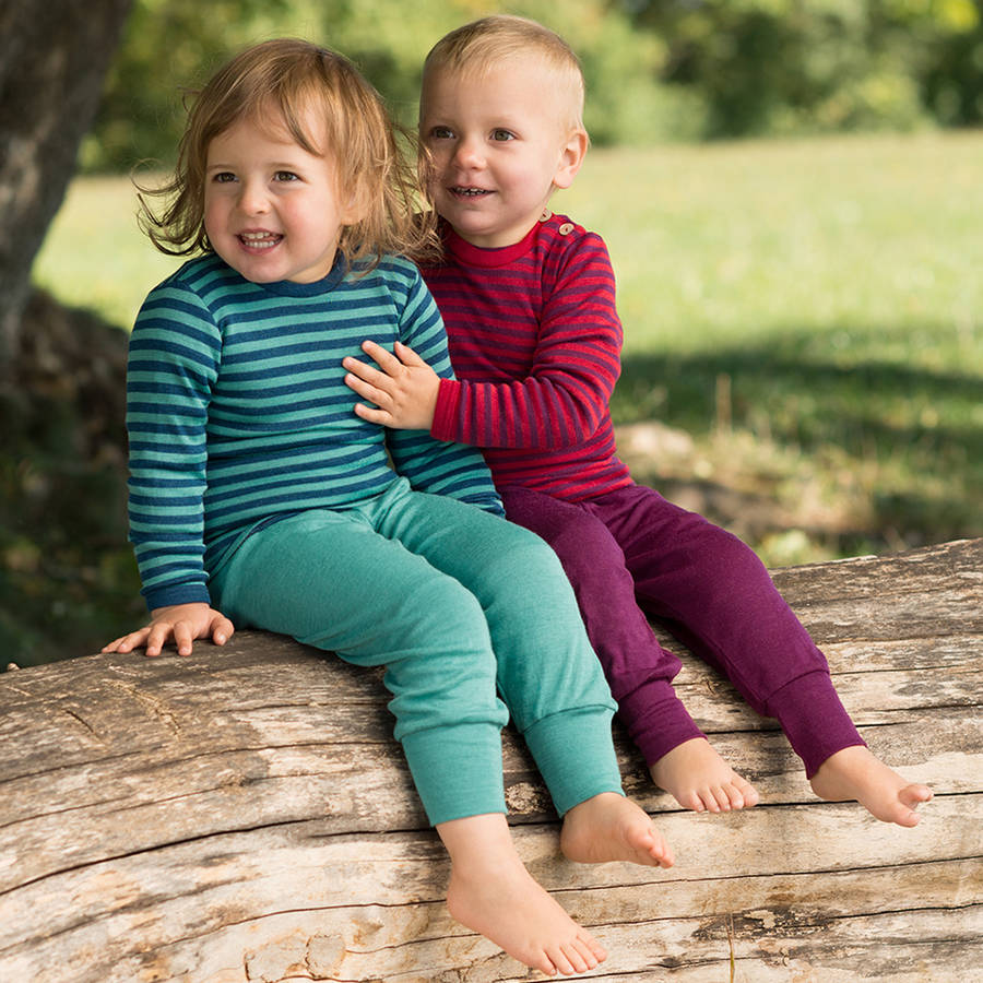 Organic Merino Wool And Silk Baby Trousers