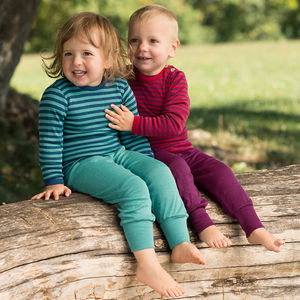 Organic Merino Wool And Silk Baby Trousers - clothing