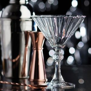 Set Of Two Deco Cocktail Glasses - glassware