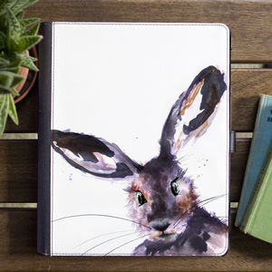 Inky Hare Tablet Case With Stand - tech accessories for her