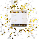 White And Gold Confetti Mini Squares