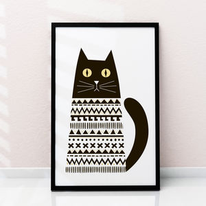 'Big Eyed Cat' Art Print