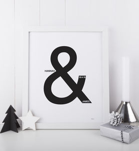 Ampersand Couple Print - new in prints & art