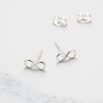 Silver Infinity Stud
