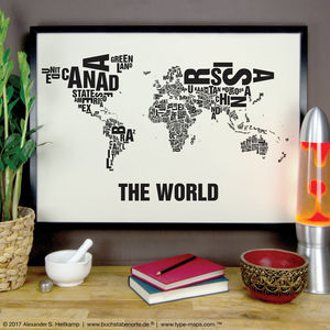 The World Letter Map Digital Print - posters & prints