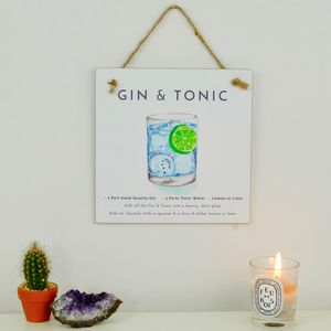 Gin And Tonic Cocktail Gift A Card