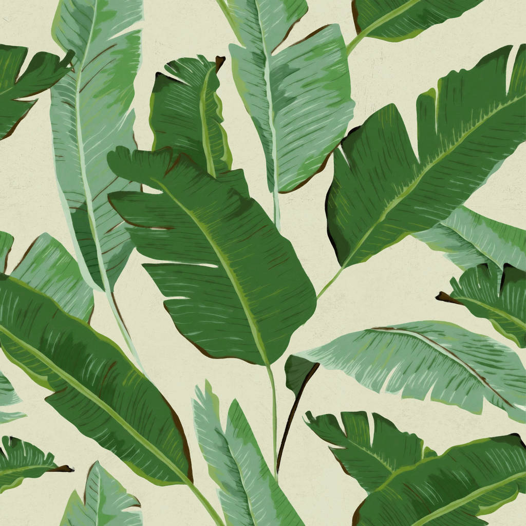 banana leaves wallpaper set of three rolls by lime lace ...