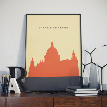 St Pauls Cathedral Poster. London Print