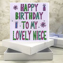Personalised Niece Birthday Book Card