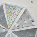 Grey Counting Sheep And Daisy Mini Cotton Bunting