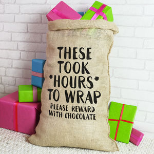 Christmas Sack For Adults Reward With Chocolate - view all decorations