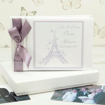 Personalised Paris Wedding Photo Album