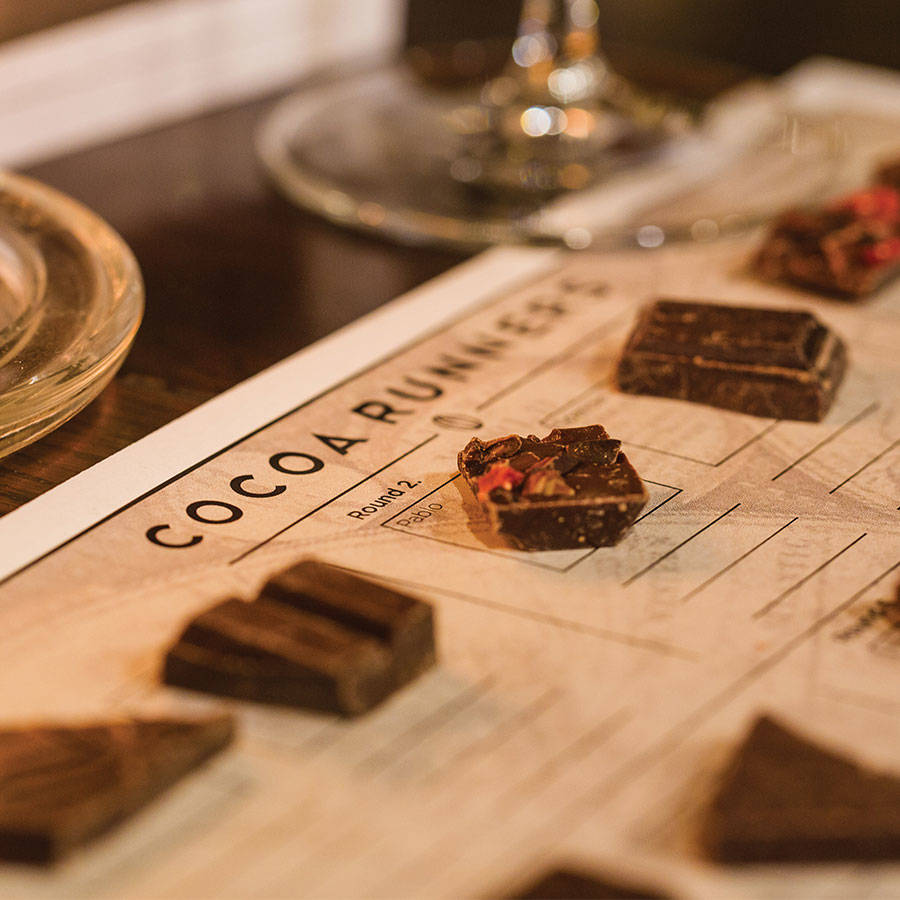 chocolate tasting Host a chocolate-tasting partyit's just like a wine- or cheese-tasting party, only sweeter.