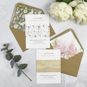 Woodland Mix 'N' Match Invitations - wedding stationery