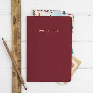 The Ponderlily Travel Journal, Red - honeymoon accessories