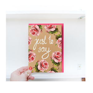 Eco Friendly 'Just To Say' Card - all purpose cards
