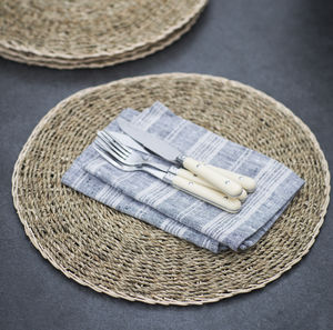 Set Of Four Seagrass Placemats
