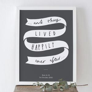 'Happily Ever After' Wedding Print - best wedding gifts