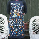 100% Cotton Gypsy Apron In A Folk Art Style