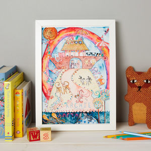 Personalised Noah's Ark Bedroom Print