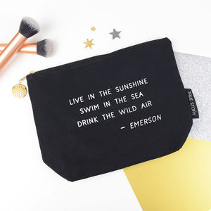 'Drink The Wild Air' Make Up Bag