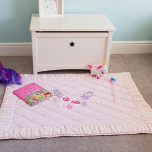 Children's Pink Fairy Floor And Play Mat