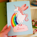 Personalised Unicorn A5 Card