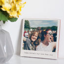 Personalised Glazed Ceramic Retro Style Photo Tile