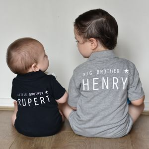 Personalised Little Brother, Big Brother Gift Set - t-shirts & tops