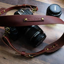 Handmade Italian Leather Adjustable Camera Strap