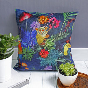 Fun Jungle Animals Tropical Duck Feather Cushion
