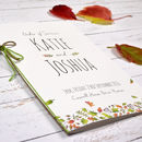 Personalised Autumn Leaves Order Of Service