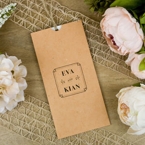 Floral Press Wallet Wedding Invitation - wedding stationery