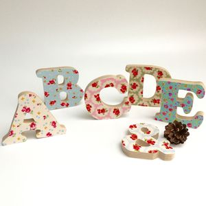 Retro Style Large Wooden Letters - gifts for the home