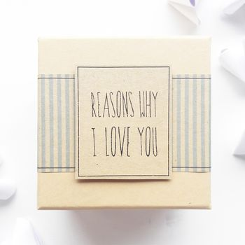 Origami 'Reasons Why I Love You' Gift Box