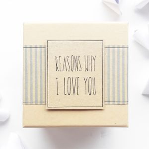 Origami 'Reasons Why I Love You' Gift Box - wedding favours