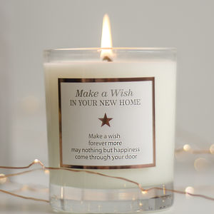 'Make A Wish In Your New Home' Candle - new home gifts